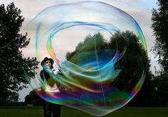 people and animals with big soap bubbles | Huge soap bubbles | Oriens