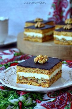 Polish Recipes, Baked Goods, Cheesecake, Dessert Recipes, Food And Drink, Cooking Recipes, Sweets, Chocolate, Ethnic Recipes