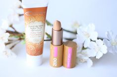 Organic Foundation and Concealer. Cooler Caramel Natur'Fluid Foundation and ZAO Makeup Concealer.