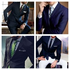 a navy suit is a must have in your wardrobe.   #men // #fashion // #mensfashion
