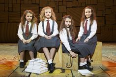 Matilda the Musical, Orginal broadway Matildas: Bailey Ryon, Oona Laurence, Milly Shapiro and Sophia Gennusa