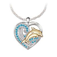 CleverEves Sterling Silver Pendant Dolphins