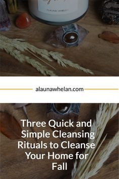 Check out three quick and simple cleansing rituals to cleanse your home for fall. Sleep Rituals, Cleanse, Fall, Simple, Check, Home, Autumn, Fall Season, Ad Home