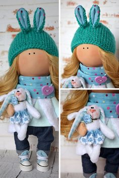 Blonde doll Interior doll Home doll Art doll by AnnKirillartPlace
