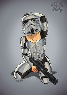 Who knew Storm Troopers were hiding such bodies under those suits.