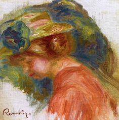 Woman in a Hat (Pierre Auguste Renoir) 1906