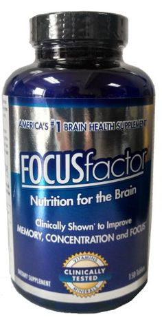 FOCUSfactor 150 Tablets.  Increase memory and improve brain function. Increase attention length. Natural, safe and effective. Build Brain connections