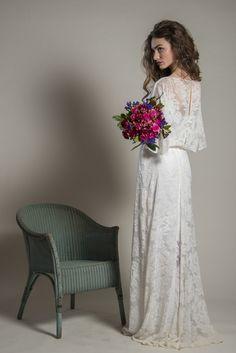 Devore couture Christine Trewinnard Wedding gown