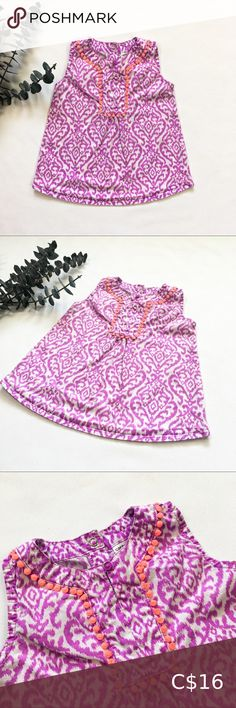 4T  IKAT Tribal Print Blouse Vibrant neon purple/fuchsia IKAT pattern blouse.  Size 4T Great condition!  This sweet top is almost tunic length, but pairs sweetly with some shorts or leggings. Carter's Shirts & Tops Blouses Denim Tunic, Plaid Tunic, Pink Tutu Skirt, Red And Black Flannel, Neon Purple, Ikat Pattern, Blouse Patterns, Tribal Prints, Printed Blouse