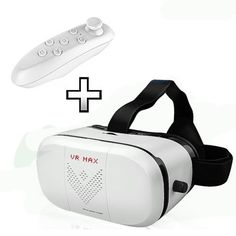 Virtual Reality Goggles 3D VR MAX Virtual Reality Glasses and 3D Video Game Movie Apple iPhone Controller 3D glasses Mobile Phone Bluetooth Remote Control *** You can find more details by visiting the image link.