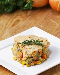 Veggie-Packed Chickpea Pot Pie Recipe by Tasty. Green beans instead of celery and broccoli. Vegan Main Dishes, Veggie Dishes, Veggie Recipes, Whole Food Recipes, Cooking Recipes, Tilapia Recipes, Cajun Recipes, Dip Recipes, Cooking Ideas