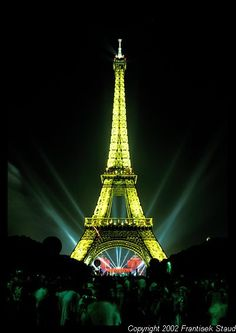 Bastille day with laser beams. When I go to paris it will be Bastile day :)