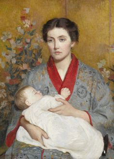 Lilla Cabot Perry (American, 1848 - 1933): The Blue Kimono (1915) (via Sotheby's)