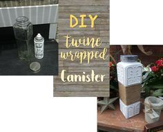 DIY Twine Wrapped Canister - NV