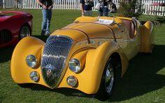1938 Peugeot 402 Darl'mat Roadster - yellow - fv