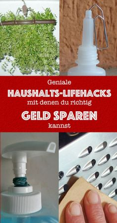 - 15 geniale Haushalts-Lifehacks, mit denen du richtig Geld sparen kannst 15 awesome household life hacks that can help you save real money Crafts For Teens To Make, Diy For Teens, Crafts To Sell, Easy Crafts, Diy And Crafts, Money Plan, Money Tips, House Cleaning Tips, Cleaning Hacks