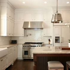 Traditional subway or marble subway with herringbone pattern for behind stove or at sink window?