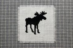 ITEM DESCRIPTION: A cross stitch pattern of a moose silhouette. The pattern comes in two formats, JPG and PDF. You will get both files when you purchase this item. SPECIFICATIONS: Width - 35 stitches Height - 37 stitches DISCLAIMER: This items is for a pattern only. Materials are not included in the listing. The finished cross stitch shown in the photo is sold separately. Electronic files are final sale only. They cannot be returned. Please contact me if you have any questions before…