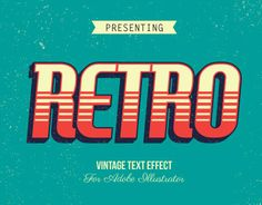 Vintage and Retro Styles Graphic Design Lessons, Graphic Design Inspiration, Text Design, Logo Design, Letras Abcd, Retro Font, Types Of Lettering, Text Effects, Vintage Labels