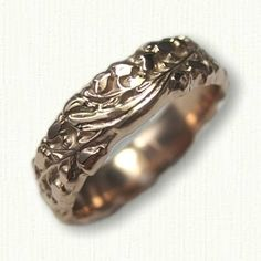 14kt Rose Gold Custom Lily of the Valley Wedding Band - Available in All Metals and Sterling Silver