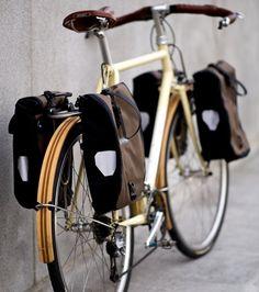 Fast Boy Cycles working with wood Bicycle Rear Rack, Bicycle Bag, Touring Bike, Touring Bicycles, Urban Bike, Commuter Bike, Cargo Bike, Bike Style, Cycling Bikes