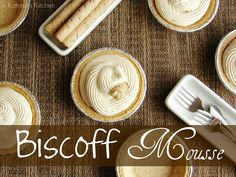 Creamy Biscoff Mousse piped into mini graham cracker pie shells- decadent and simple at the same time! {Peanut Butter may be substituted for Biscoff. Just Desserts, Delicious Desserts, Dessert Recipes, Yummy Food, Dessert Ideas, Drink Recipes, Cake Recipes, Speculoos Cookie Butter, Biscoff Cookies