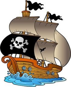 Photo about Pirate sailboat on white background - illustration. Illustration of boat, ladder, objects - 13087523