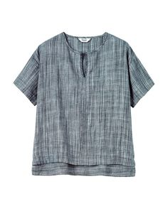 Women's Space Dyed Linen Top