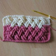 Beautiful Interweave Cable StitchThis crochet pattern / tutorial is available for free... Full Post: Interweave Cable Stitch