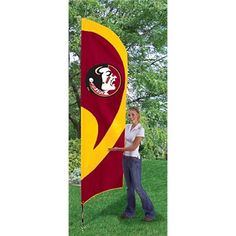 Florida State University FSU Seminoles 11 Foot Tall Team Flag Kit