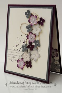 flowered card - gorgeous!