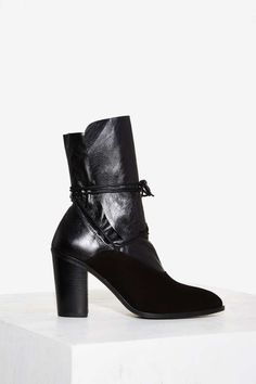 Intentionally Blank Pepper Leather Boot - Black - Boots + Booties   Last Chance