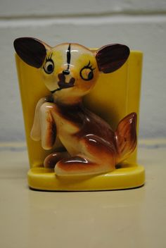 Vintage Ceramic Wall Pocket Planter Deer Made in Japan | eBay