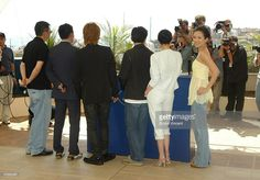 L to R Director Wong Kar-Wai and actors Chang Chen, Takuya Kimura, Tony Leung, Carina Lau and Zhang Ziyi attend '2046' photocall at Le Palais de Festival at the 57th Cannes Film Festival on May 21, 2004 in Cannes, France.