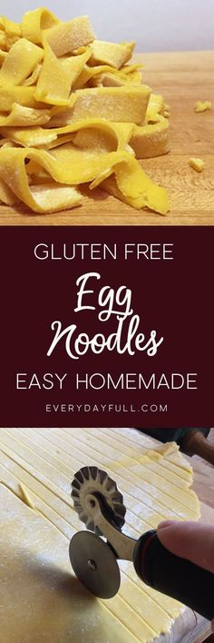GLUTEN FREE EGG NOODLES - Do you miss noodles since going gluten free? This recipe is so easy you'll be enjoying noodles on a weekly basis! Plus a bonus homemade chicken noodle (Gluten Free Recipes Italian) Gluten Free Egg Noodle Recipe, Egg Noodle Recipes, Gluten Free Noodles, Gluten Free Pasta, Gluten Free Dinner, Gluten Free Chicken, Gluten Free Cooking, Gluten Free Desserts, Dairy Free Recipes