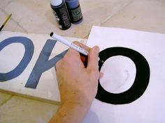 How to make wooden signs--Maybe a sign for the boys new room?