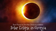In case you haven't heard, there is a total solar eclipse coming August 21 of this year. There is a small path in Georgia from which you can see the eclipse in totality. If your family is like ours, you want to maximize on this phenomenon, so we've collected a list of places where you can visit to see the event.