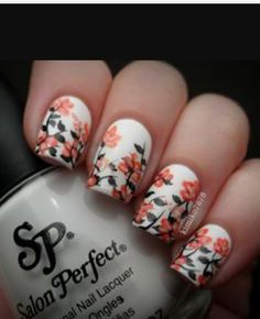 The 89 best manis images on pinterest autumn nails instagram and this spring allow yourself to be the center of attention by having the most attractive spring floral nail art designs solutioingenieria Gallery