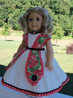 American Girl 1850's Petal Gown / Clothes for Marie Grace or Cecile