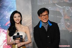 Hong Kong actor Jackie Chan and Chinese actress Jing Tian attended a press conference for their new film 'Police Story 2013' in Beijing, China, October 29,  2013