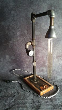Anthony Sinn's project. Lamp shade made up from old scrap