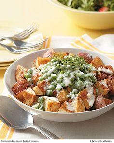 Roasted Potatoes & Creamed Peas | Cuisine at home eRecipes