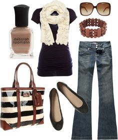 """brown & black"" by htotheb on Polyvore"