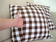 tutorial: envelope enclosure pillow, so easy, i'm hooked
