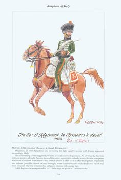 Kingdom of Italy: Plate 18: 3rd Regiment of Chasseurs à Cheval, Private, 1813