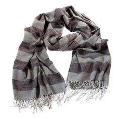 Stole wool silk cotton stripes ErmesOutfit.