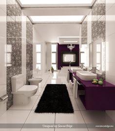 elegant in purple and black