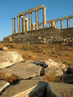 Sounion, the golden hour   Greece