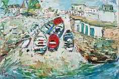 Deborah Donnelly-Dalkey Harbour #art #painting #beach #summer #waves #coast #boats #sunny #sunshine #DukeStreetGallery Cupcake Images, Oil Painting Texture, Summer Waves, Street Gallery, Vivid Imagery, Farm Yard, Brush Strokes, Kitsch, Boats
