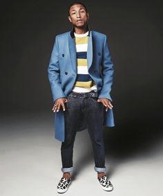 pharrell williams men of the year gq magazine december 2013 style 02 Fall Outfits For Teen Girls, Fall Outfits For School, Winter Outfits, Billionaire Boys Club, Raw Denim, Pharrell Williams, What To Wear Today, How To Wear, Gq Style